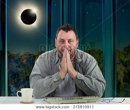 Man Begins Panicking Because Of Solar Eclipse
