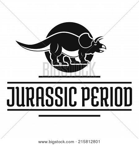 Jurassic period logo. Simple illustration of jurassic period vector logo for web