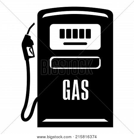 Gas column icon. Simple illustration of gas column tank vector icon for web