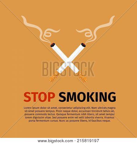 Stop smoking, world no tobacco day vector illustration
