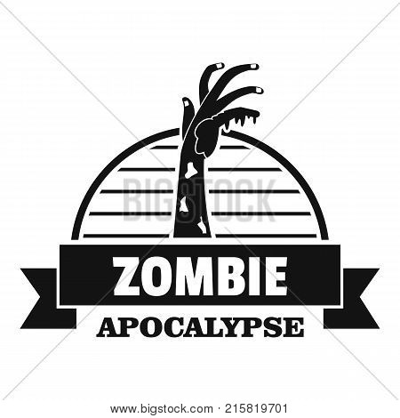 Zombie catching logo. Simple illustration of zombie catching vector logo for web