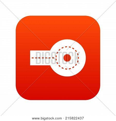 Circular impasse icon digital red for any design isolated on white vector illustration