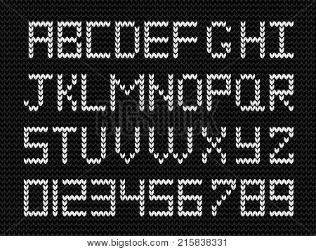White Knitted Script Vector Photo Free Trial Bigstock