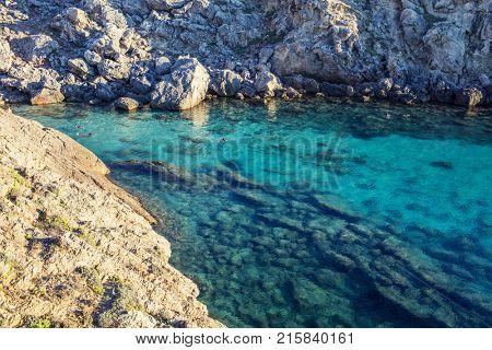 Clear water rock lagoon