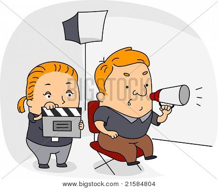 Illustration of a Director at Work