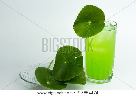 Heart Shape Of Green Asiatic Pennywort (centella Asiatica ,water Pennywort ) On The Table
