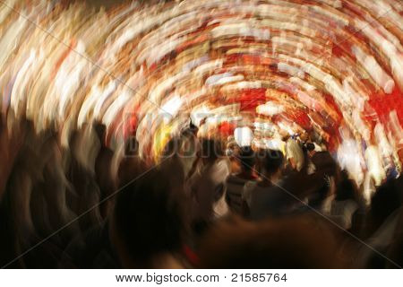 Whirlpool of people