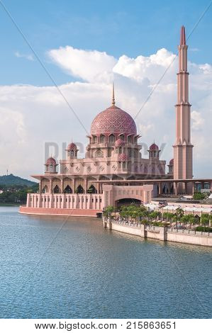 Putra Mosque in Putrajaya, Kuala Lumpur, Malaysia