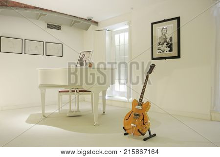 Liverpool, England - August 10, 2013: Interior Of The Beatles Story Museum At Liverpool, A Famous Wh