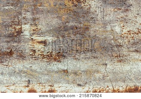 Abstract corroded colorful rusty metal background. Vintage style