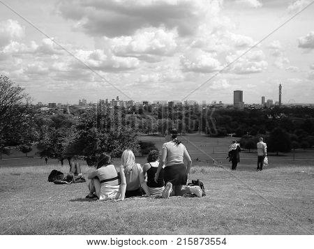 Primrose Hill In London Black And White