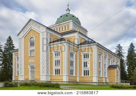 Biggest wooden church in the world. Kerimaki temple. Finland heritage