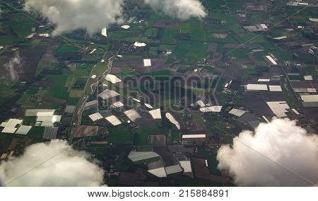 Aerial View From A Plane