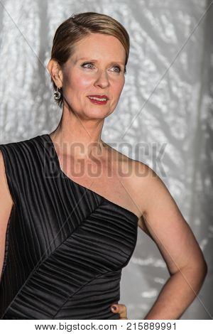 NEW YORK, NY - NOVEMBER 27: Cynthia Nixon attends the 2017 IFP Gotham Awards at Cipriani Wall Street on November 27, 2017 in New York City.