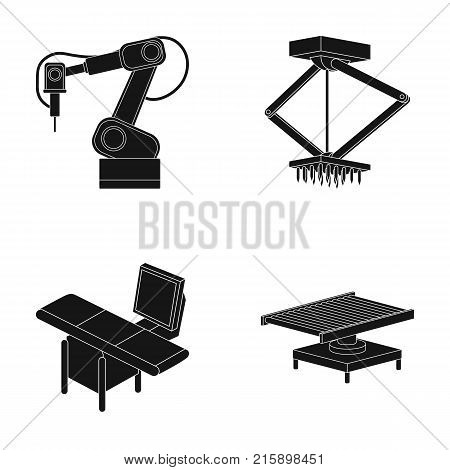 Automotive industry and other  icon in black style.New technologies icons in set collection.