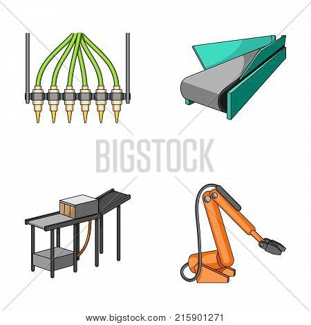Modern equipment and other  icon in cartoon style.Machine tools and equipment factory icons in set collection.