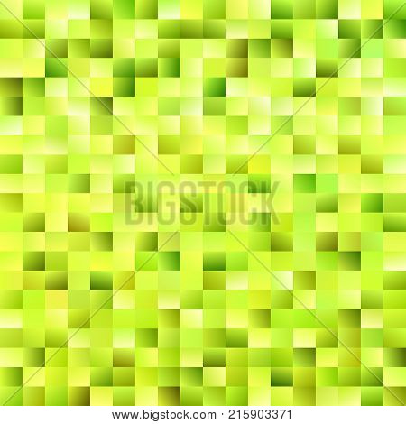 Geometric abstract rectangle background - gradient mosaic vector design from rectangles in lime green tones
