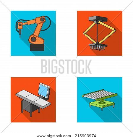 Automotive industry and other  icon in flat style.New technologies icons in set collection.