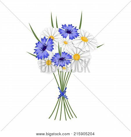 A bouquet of fresh flowers single icon in cartoon style for design. Bouquet vector symbol stock illustration .