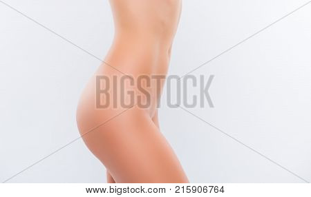 Curves Of Beautiful Ideal Woman's Body Without Cellulite, With Perfect Clean Pure Flawless Skin. Cro