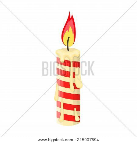 Christmas candle single icon in cartoon style for design.Christmas vector symbol stock illustration .