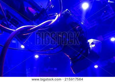 Tv Camera In A Concert Hal.