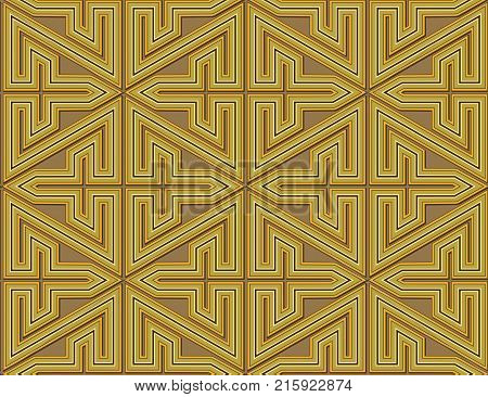 abstract design of straight lines and angles to form a labyrinthine maze
