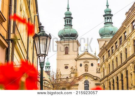 Beautiful Buildings In The Old Town Of Prague In Czech Republic.
