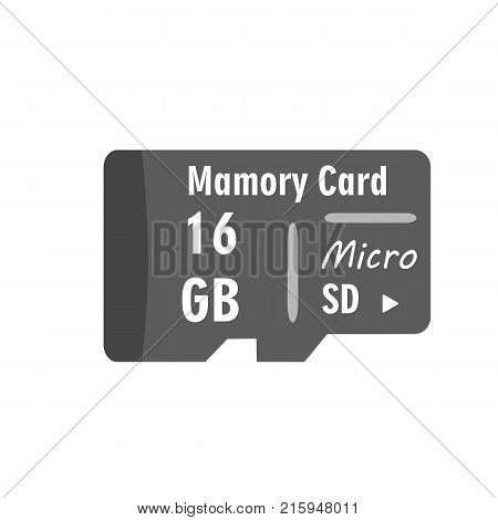 Micro SD memory card. Vector Illustration on white background