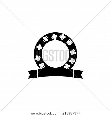 wreath circle vector Icon on white background