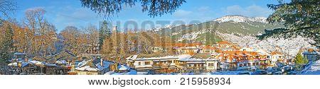 Panorama Of Winter Metsovo, Greece