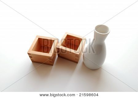 Sake Bottle and Cups
