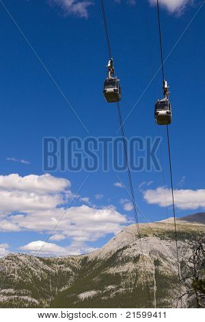 Gondolas Of Sulphur Mountain