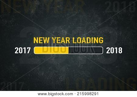 Loading bar: new year loading on a dark background