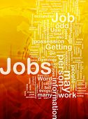 Background concept illustration of jobs work employment international poster