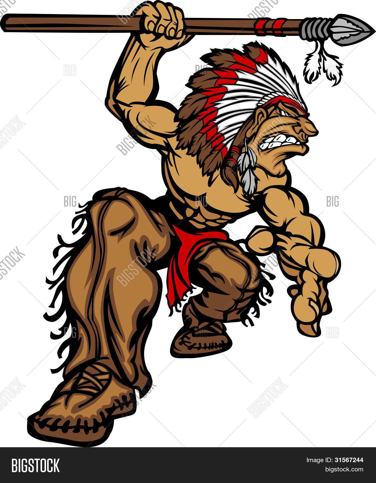 indian chief mascot vector photo free trial bigstock