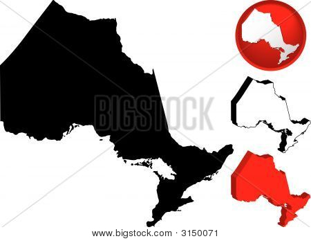 Detailed Map Of Ontario, Canada