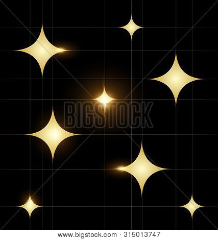 Dark Colored Background Image Of The Abstract Golden Square