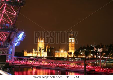 Big Ben From Next To The London Eye