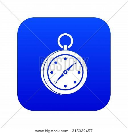 Multifunction knife icon digital blue for any design isolated on white illustration poster