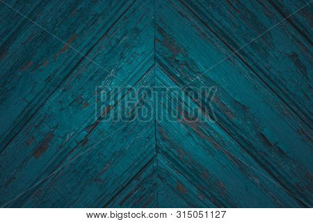 Green Mint Painted Wood Board Texture And Background. Green Mint Natural Wooden Background. Aged Woo