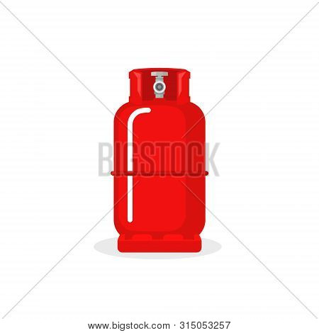 Gas Cylinder Vector Tank. Lpg Propane Bottle Icon Container. Oxygen Gas Cylinder Canister Fuel Stora
