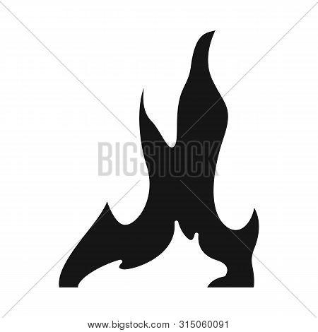 Vector Illustration Of Bonfire And Ignite Sign. Collection Of Bonfire And Temperature Stock Vector I