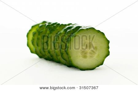 Stack Of Sliced Cucumber