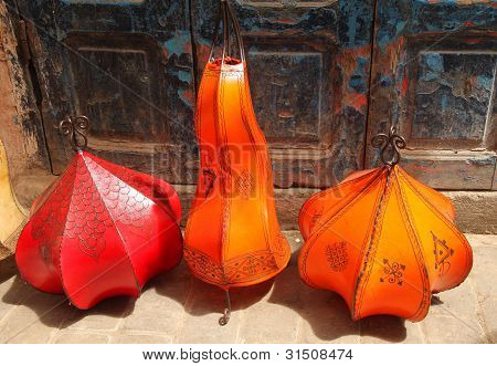 Leather lamps