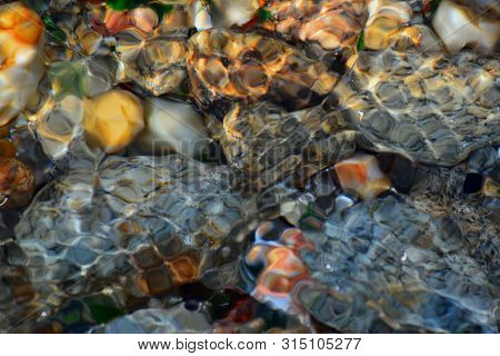 Water In Movement , Light And Colors Reflexion , Colorful Efects