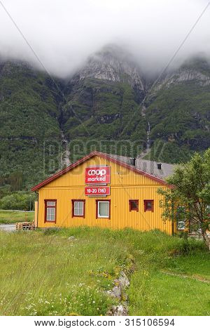 Storvika, Norway - July 25, 2015: Coop Marked Supermarket In Norway. It Is Part Of Coop Norge Cooper