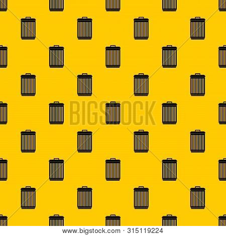 Trashcan Pattern Seamless Vector Repeat Geometric Yellow For Any Design