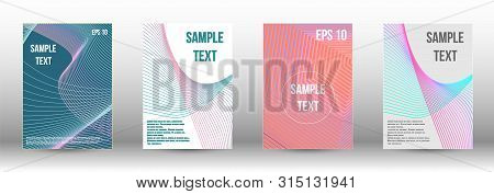Minimum Vector Coverage. A Set Of Modern Abstract Covers. Artistic Covers Design.  Creative Backgrou