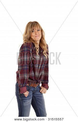 Smile Checkered Shirt